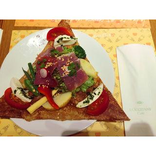 プロシュートとモッツァレラのガレット(ロクシタンカフェ 新宿店 (Cafe dOlivier))