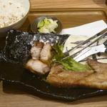 茶美豚バラ黒胡椒焼き定食(とろろ無し)(とと和くら ヨドバシ横浜店 )