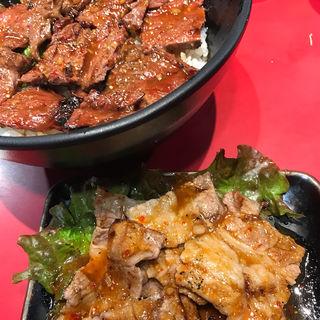 ハラミ丼&カルビ皿(十番 三ノ宮店 (じゅうばん))