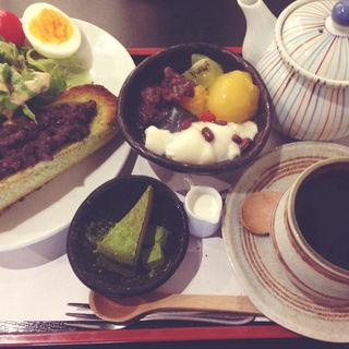 八坂甘味セット(甘味処 あべまき茶屋)