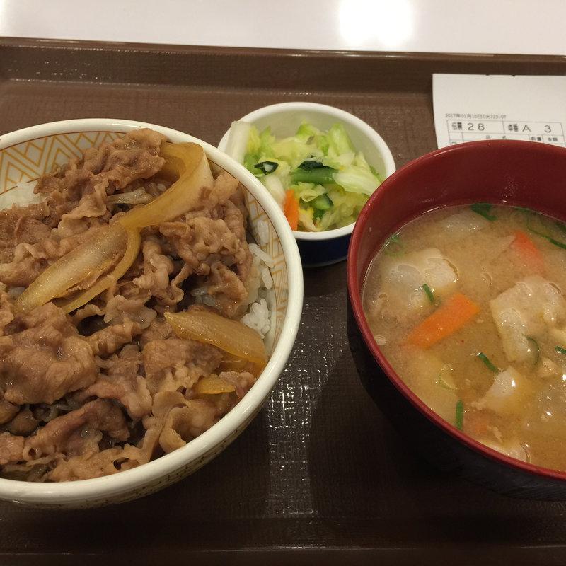 【期間限定価格】牛丼とん汁おしんこセット
