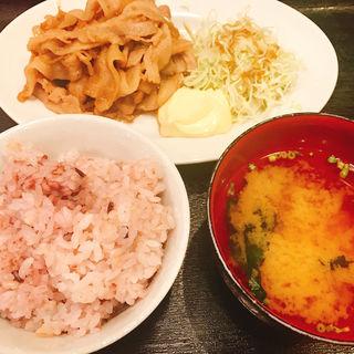 生姜焼き定食(青山食堂 )