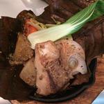 お魚の朴葉焼き