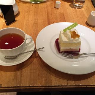 京都産柚子レアチーズケーキ(リプトン三条本店)