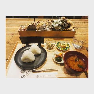 おにぎり定食(サロン ギンザ サボウ (SALON GINZA SABOU))