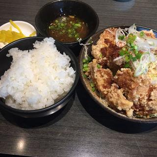 唐揚げ定食 カレースープ付(かれー麺 実之和 青山店 (かれーめん みのわ))