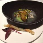 ハーブ香る本日の鮮魚のフリット アスパラガスとオルツォのミネストラ 根菜を添えて(リストランテASO (リストランテ アソ))