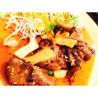 マグロのほほ肉のステーキ(歩すし)