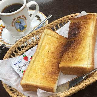 朝のセットメニュー バタートースト