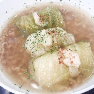 和風ロールキャベツスープ(しずく shizuku 429)