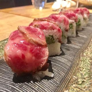 ポジアン特製牛ロール寿司(歩路庵 中目黒 (ポジアン))