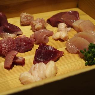 鶏刺し12種盛り(熊の焼鳥 )