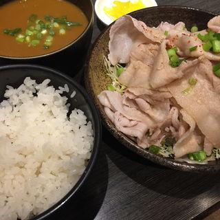 じゃぶじゃぶポン酢定食 カレースープ付(かれー麺 実之和 青山店 (かれーめん みのわ))