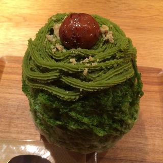 抹茶ラテマロン(氷屋ぴぃす )