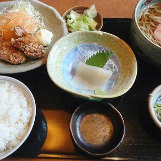 塩唐揚げとイカソーメンの日替わりランチ(喜八 )