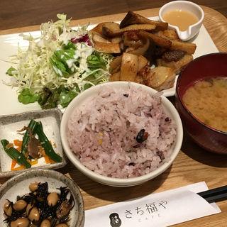 鶏とエリンギの炙り焼 ゆず味噌ソース定食(さち福や CAFE 晴海トリトン店 )