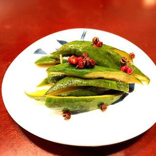 きゅうりの山椒炒め