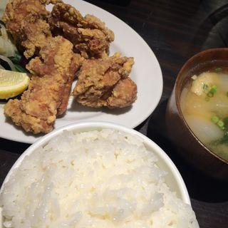 若鶏唐揚定食(釘本食堂)