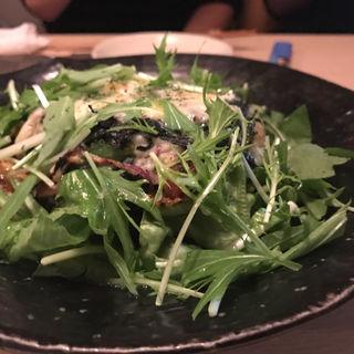 寒〆ほうれん草と豚バラの温かいポテトサラダ(松)