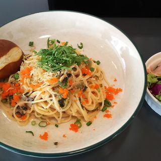 じゃこと高菜の明太子パスタ(ワイアード カフェ アトレ川崎店)