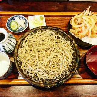 ざる蕎麦&かき揚げ(ふくや )