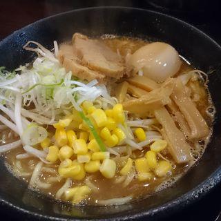 蔵出し煮卵 味噌らーめん + チャーシュー(そい屋 )