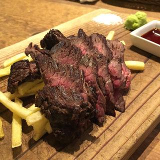 熟成肉の炭火焼ステーキ