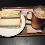 たまご&コールスローサンド 黒糖ミルク珈琲(上島珈琲店 四条烏丸店 )
