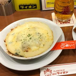 牡蠣とホウレン草のグラタン(銀座ライオン 地下鉄名駅店 )