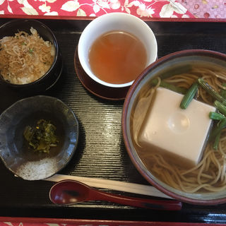 胡麻豆腐そば定食(茶房 至心庵)
