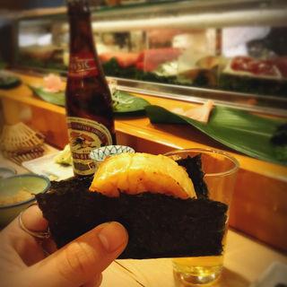 貝柱の海苔巻き(初音鮨)