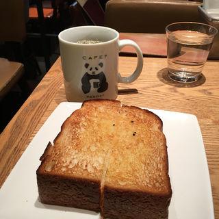 バタートースト ドリンクセット(シーズカフェ ecute上野店 (C's CAFE))