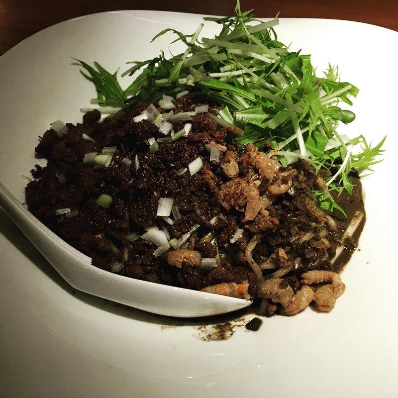 汁なし坦坦麺 黒胡麻坦坦麺