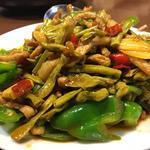 湖南伝統 ササゲの肉味噌炒め