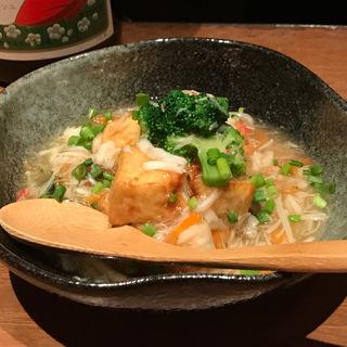 揚げ豆腐の中華風カニあんかけ(車道トウフ (くるまみちとうふ))