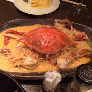 渡り蟹のトマトクリームスパゲッティ(味倶楽部 くらりす)