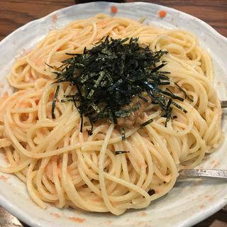 たらことイカと納豆スパゲティ(むぎわら (MUGIWARA))