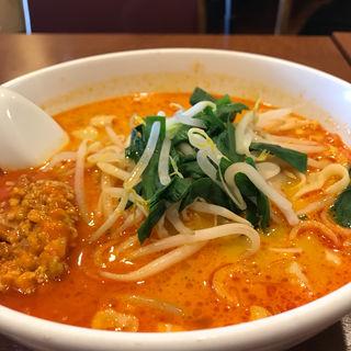 担々麺+半チャーハン(隆昌飯店 (リュウショウハンテン))