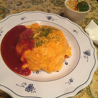こだわり卵のオムライス(oeuf cafe)