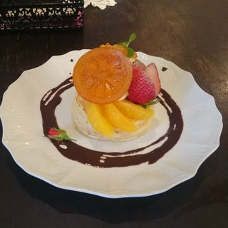 オレンジとチョコレートのパンケーキ(カフェアンジェ (Cafe Ange))