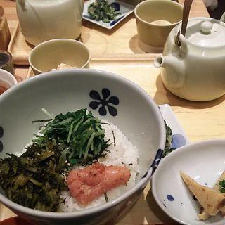 炙り明太子と高菜 だし茶漬け(だし茶漬け えん エキマルシェ大阪店 )