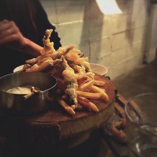 きびなごfish and chips(aux ワイン食堂)