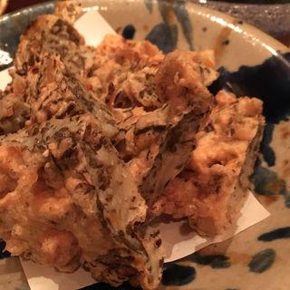 もずくの天ぷら(沖縄家庭料理 残波の風 (ザンパノカゼ))
