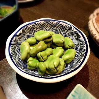 空豆塩茹で(和酒和食 恵比寿 黒帯 )