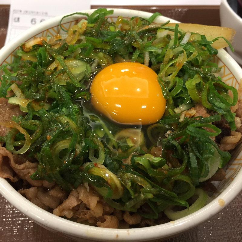 ネギ玉牛丼(並)
