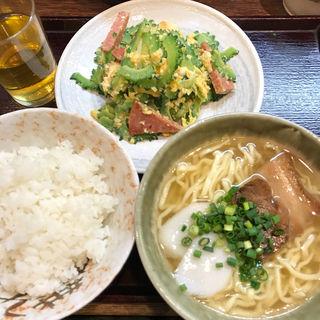 ゴーヤー定食(沖縄食堂 やんばる)
