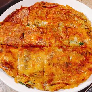 チーズチヂミ(新鮮とんちゃんセンターかわしょう)