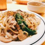 若鶏と菜の花のゴルゴンゾーラスパゲティ