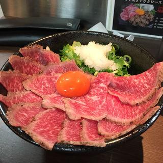 霜降りローストビーフ丼(浪花焼肉 肉タレ屋)