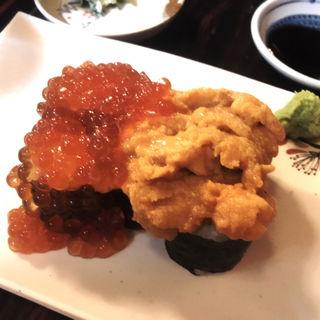 こぼれうにいくら寿司(小澤牧場 牛○ )